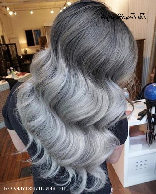 The Ice Princess Silver Ombre – 40 Glamorous Ash Blonde And Inside Ash Bronde Ombre Hairstyles (View 12 of 25)