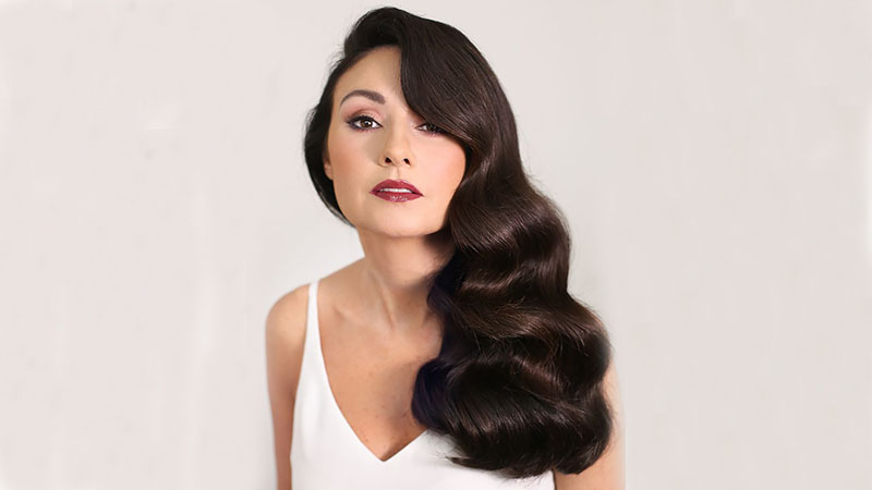 The Most Stunning Prom Hairstyles For All Hair Lengths Regarding Retro Side Hairdos With Texture (View 16 of 25)