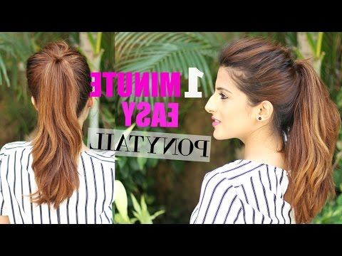 The Perfect High Ponytail For School, College,work| No Inside Messy High Ponytail Hairstyles With Teased Top (View 18 of 25)