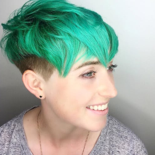 The Short Pixie Cut – 42 Great Haircuts You'll See For 2019 Pertaining To Pastel Pixie Haircuts With Curly Bangs (View 18 of 25)
