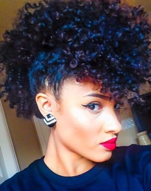 "The ""touching Black Women's Hair"" Phenomenon – Mini With Black & Red Curls Mohawk Hairstyles (View 4 of 25)"