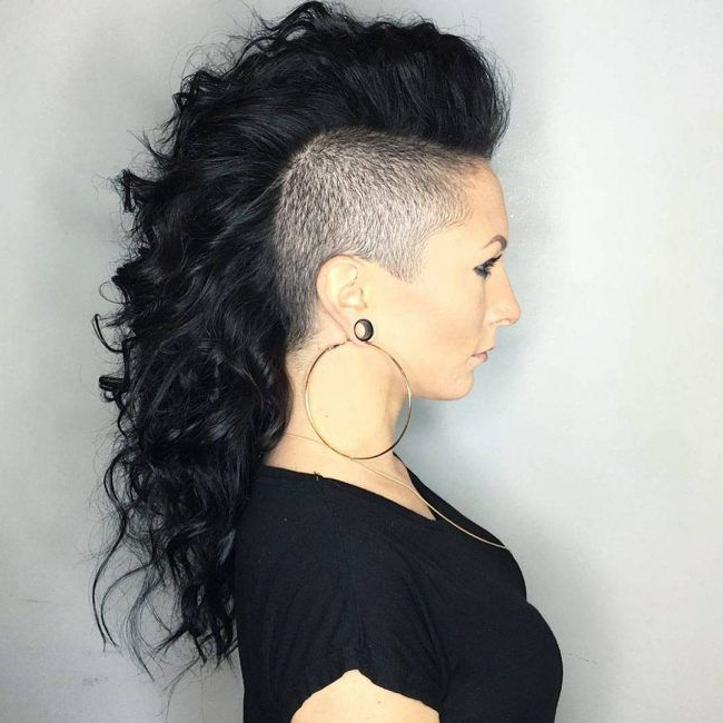 Thick Mohawk With Razor Trimmed Sides In 2019 | Long Hair Throughout Long Hair Mohawk Hairstyles With Shaved Sides (View 7 of 25)
