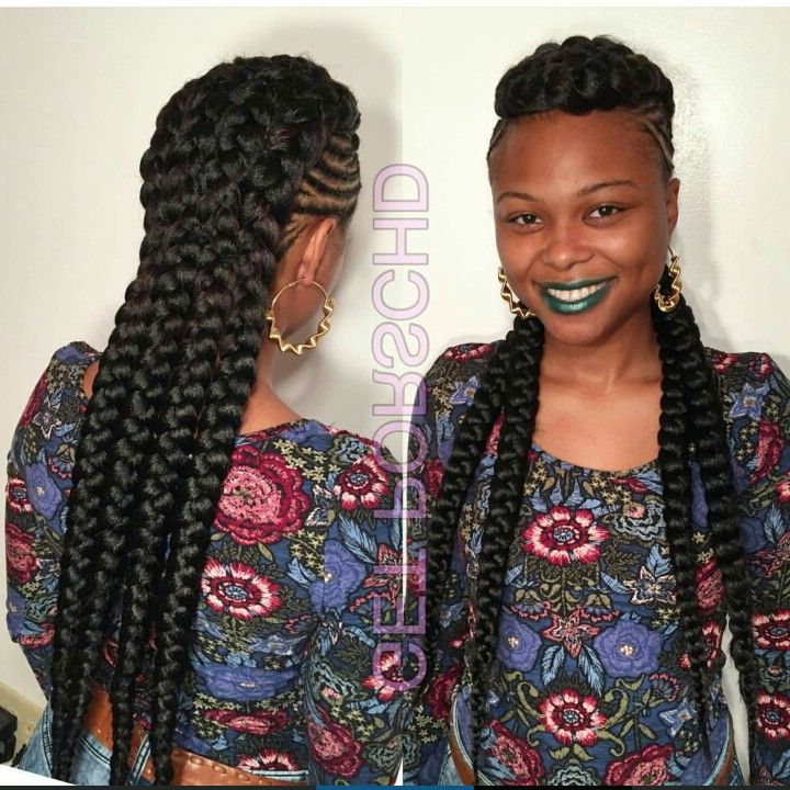 This Braided Mohawk Is Everything!!!!!!! | Braids For Black With Big Braid Mohawk Hairstyles (View 3 of 25)