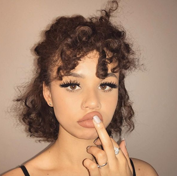 Tight Spiral Curls And Half Upsnitchery | Curly Hair Intended For Pixie Haircuts With Tight Curls (View 8 of 25)