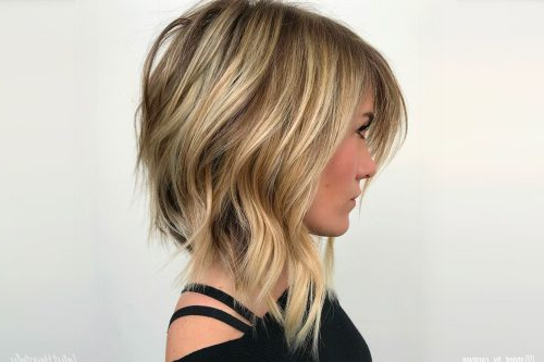 Top 17 Layered Bob Haircuts (2019 Pictures) For Edgy Textured Bob Hairstyles (View 20 of 25)