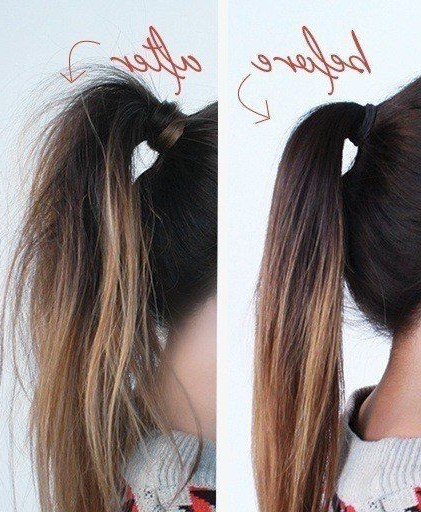 Tuesday Tutorial: The Textured Pony | Ponytail Tutorial For Messy High Ponytail Hairstyles With Teased Top (View 6 of 25)