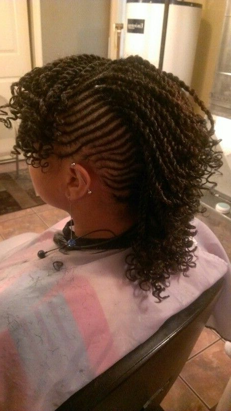 Twisted Mohawk | Natural Braided Hairstyles, African Braids Intended For Twisted And Braided Mohawk Hairstyles (View 20 of 25)