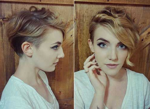 Wavy Pixie Cut Long Bangs | Hair Ideas | Pinterest | Cabello Pertaining To Blonde Pixie Haircuts With Curly Bangs (View 10 of 25)