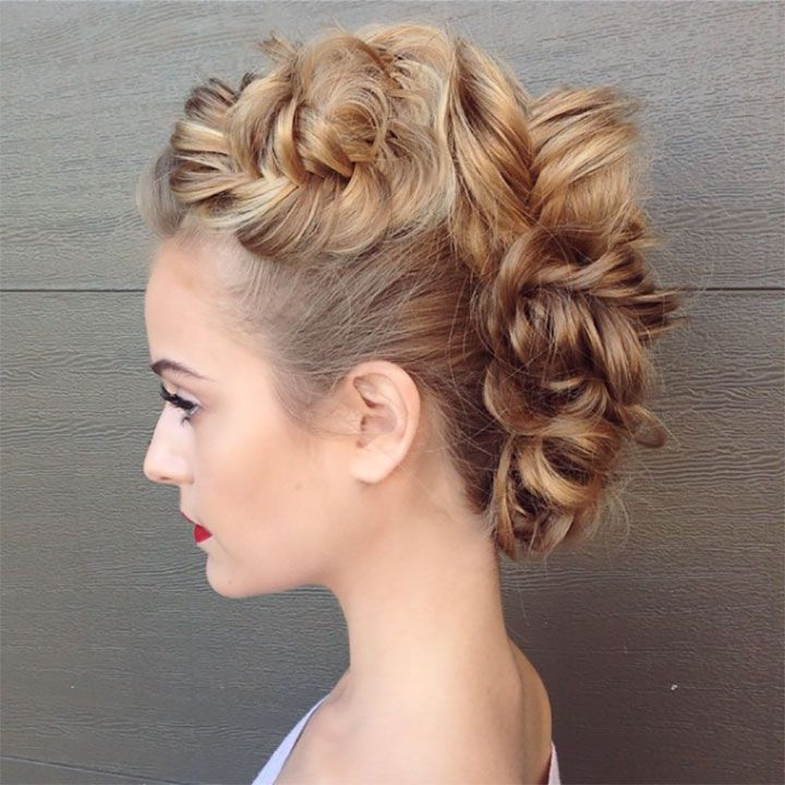 Wedding Inspiration In 2019 | Updos For Medium Length Hair Intended For Medium Length Hair Mohawk Hairstyles (View 11 of 25)