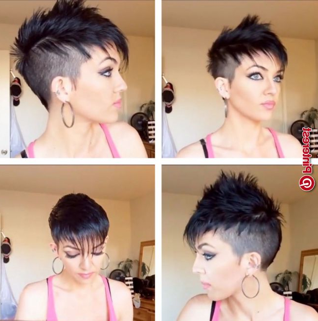 Womans Faux Hawk I Love This Haircut, I'm Getting My Long Throughout Pixie Faux Hawk Haircuts (View 25 of 25)