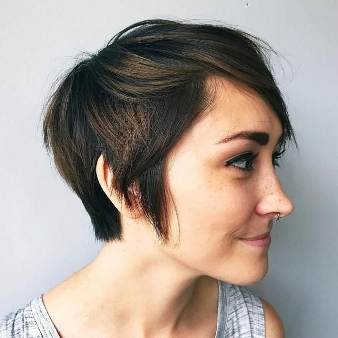 100 Mind Blowing Short Hairstyles For Fine Hair | Style It Regarding Pixie Haircuts With Tapered Sideburns (View 3 of 25)