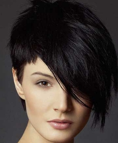 20 Bold Asymmetrical Pixie Cuts Regarding Messy Spiky Pixie Haircuts With Asymmetrical Bangs (View 19 of 25)