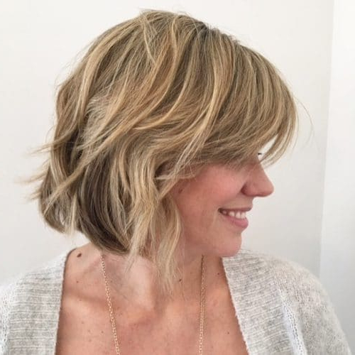 30 Hottest Short Layered Haircuts Right Now (Trending For 2019) Within Feathered Haircuts With Angled Bangs (View 6 of 25)