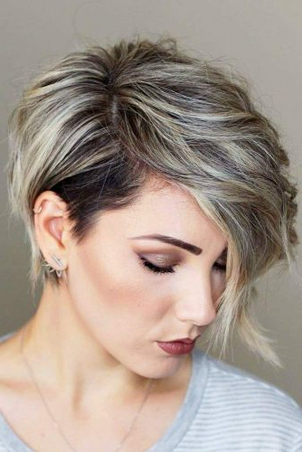 33 Types Of Asymmetrical Pixie To Consider | Lovehairstyles Throughout Messy Spiky Pixie Haircuts With Asymmetrical Bangs (View 13 of 25)