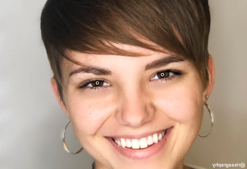 34 Most Flattering Short Hairstyles For Round Faces Inside Tapered Pixie Boyish Haircuts For Round Faces (View 20 of 25)