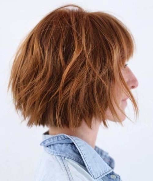 40 Choppy Bob Hairstyles 2020: Best Bob Haircuts For Short intended for Short Chopped Bob Hairstyles With Straight Bangs