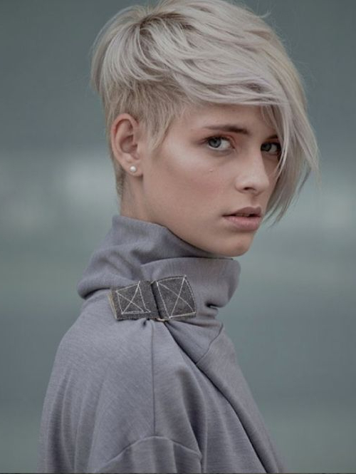 40 Short Haircuts For Girls With Added Oomph | Beauty within Gray Pixie Haircuts With Messy Crown