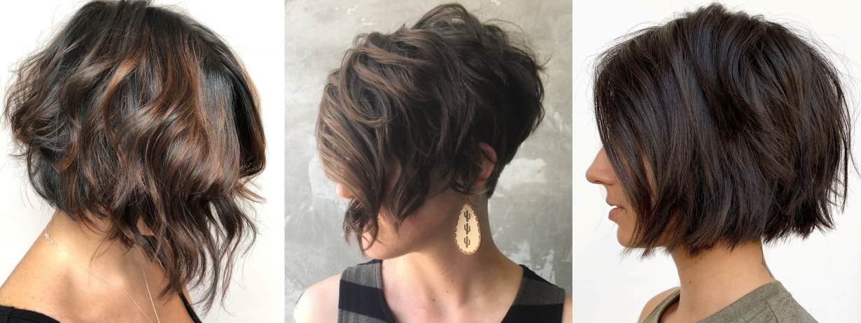 40 Short Hairstyles For Thick Hair (Trendy In 2019-2020 regarding Slightly Angled Messy Bob Hairstyles