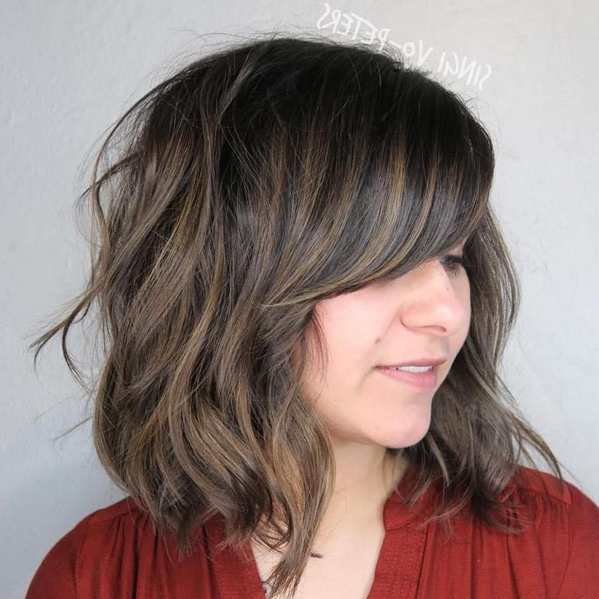 40 Side-Swept Bangs To Sweep You Off Your Feet | Long Bob inside Curly Messy Bob Hairstyles With Side Bangs