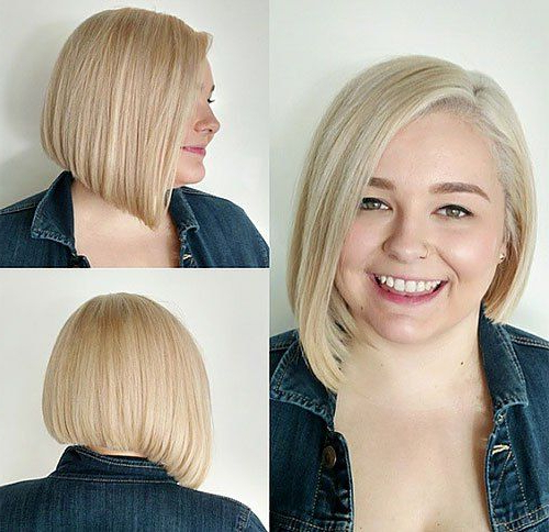 40 Stylish And Sassy Bobs For Round Faces In 2019 | Bob intended for Classic Asymmetrical Hairstyles For Round Face Types