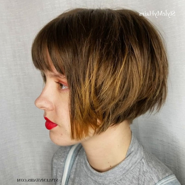 45 Chic Choppy Bob Hairstyles For 2019 - Style My Hairs for Short Chopped Bob Hairstyles With Straight Bangs