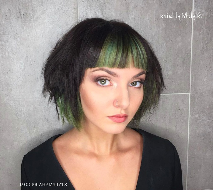 45 Chic Choppy Bob Hairstyles For 2019 - Style My Hairs in Short Chopped Bob Hairstyles With Straight Bangs