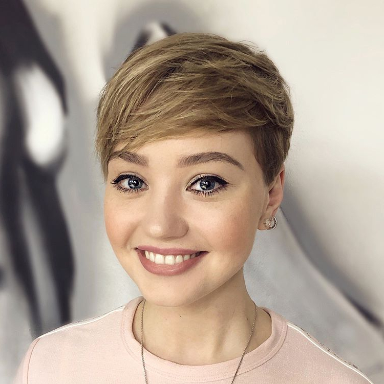 50 Head Turning Hairstyles For Thin Hair To Flaunt In 2019 With Tapered Pixie Boyish Haircuts For Round Faces (View 15 of 25)