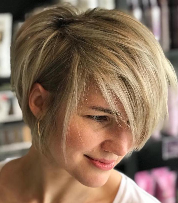 50 Hottest Pixie Cut Hairstyles In 2019 Throughout Long Pixie Haircuts With Sharp Layers And Highlights (View 2 of 25)