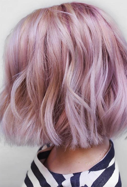 55 Medium Bob Haircuts To Embrace: The One Mid Length Bob With Regard To Purple Tinted Off Centered Bob Hairstyles (View 20 of 25)