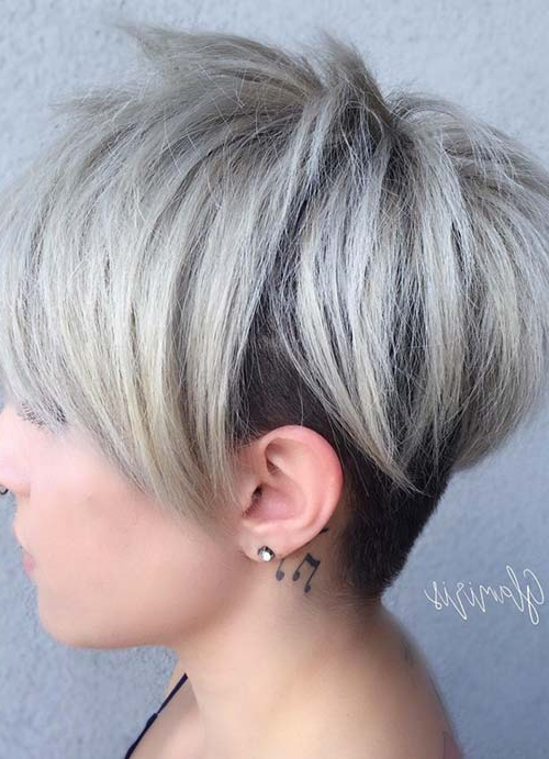 55 Short Hairstyles For Women With Thin Hair | Fashionisers© With Regard To Gray Pixie Haircuts With Messy Crown (View 15 of 25)