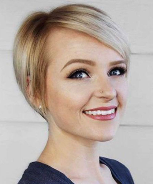 7+ Woman Short Pixie Cuts For Round Faces » Best Hairstyles Inside Pixie Haircuts For Round Faces (View 22 of 25)