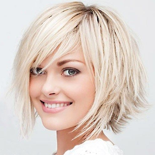 70 Overwhelming Ideas For Short Choppy Haircuts | Claire within Side-Parted Bob Hairstyles With Textured Ends