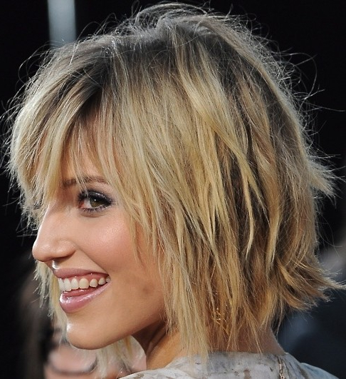 8 Bob Hairstyles: Shaggy Bob Haircut Ideas - Popular Haircuts inside Razored Shaggy Bob Hairstyles With Bangs