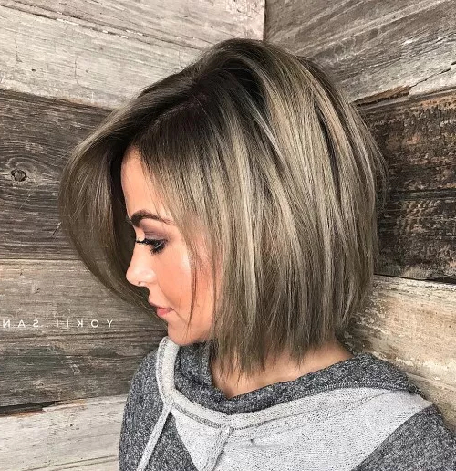 80 Medium Length Haircuts For Thick Hair That You'll Love within Side-Parted Bob Hairstyles With Textured Ends