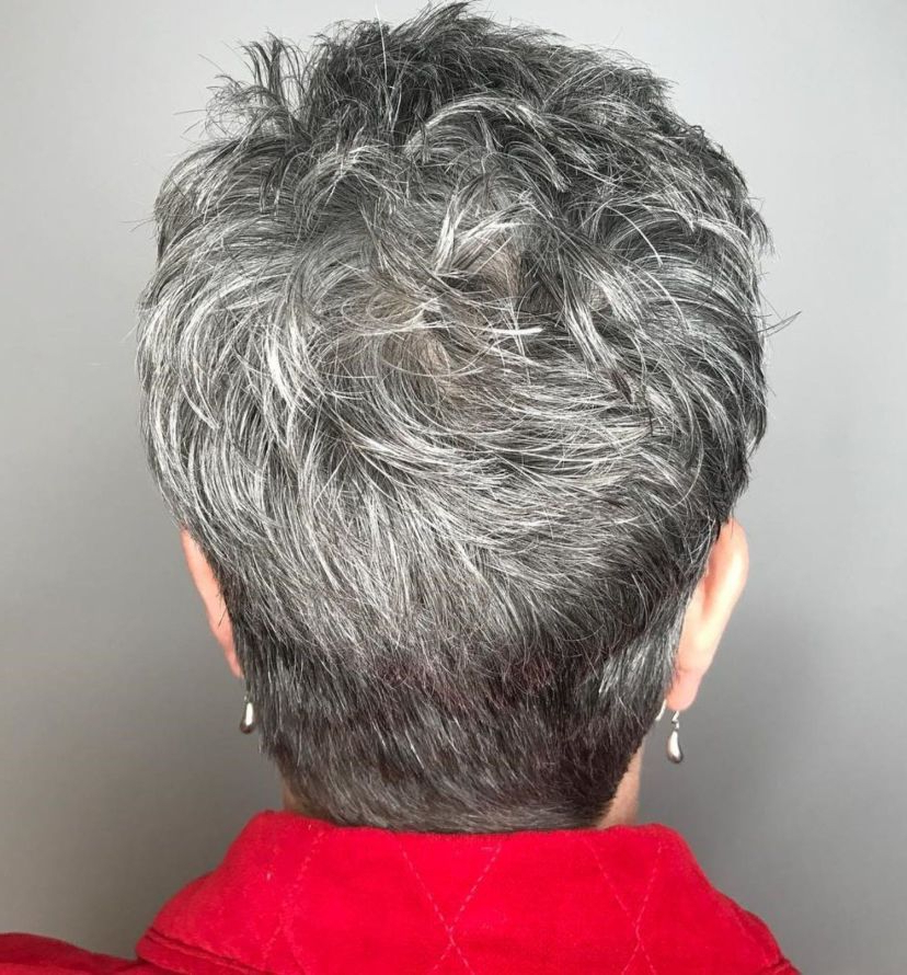90 Classy And Simple Short Hairstyles For Women Over 50 In For Gray Pixie Haircuts With Messy Crown (View 6 of 25)