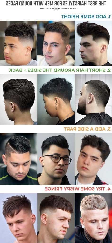 Best Hairstyles For Round Faces For Men Inside Brushed Back Hairstyles For Round Face Types (View 16 of 24)