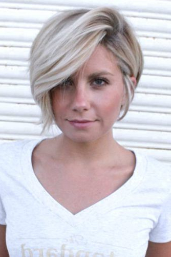 Best Short Hairstyles For Round Faces To Emphasize Your For Layered Short Hairstyles For Round Faces (View 5 of 25)