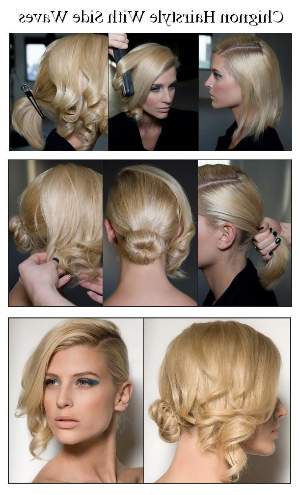 Chignon Hairstyle With Side Waves   Hair Style Princess intended for Short Reinvented Hairstyles