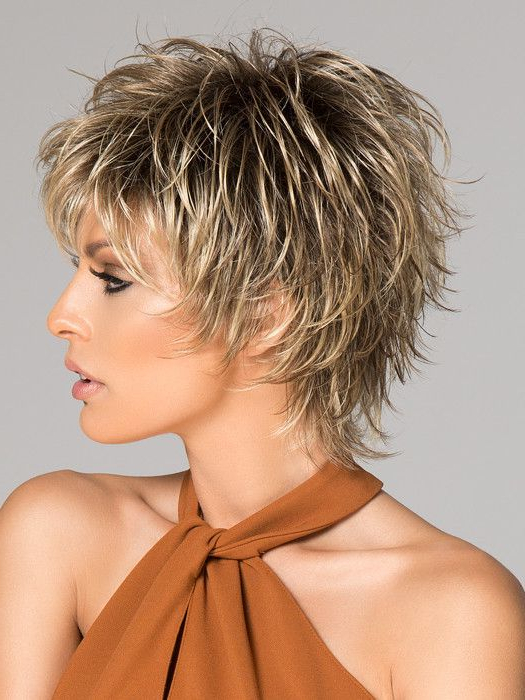 Click | Short Synthetic Wig (Basic Cap) | Short Choppy Hair regarding Long Pixie Haircuts With Sharp Layers And Highlights