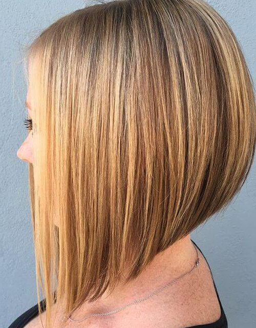 Concave Bob Haircuts - 8 Sexiest Cuts You Have To Try in A-Line Bob Hairstyles With Arched Bangs