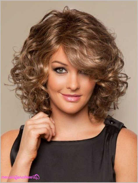 Cool Medium Length Curly Haircuts For Round Faces | Curly regarding Curly Hairstyles For Round Faces