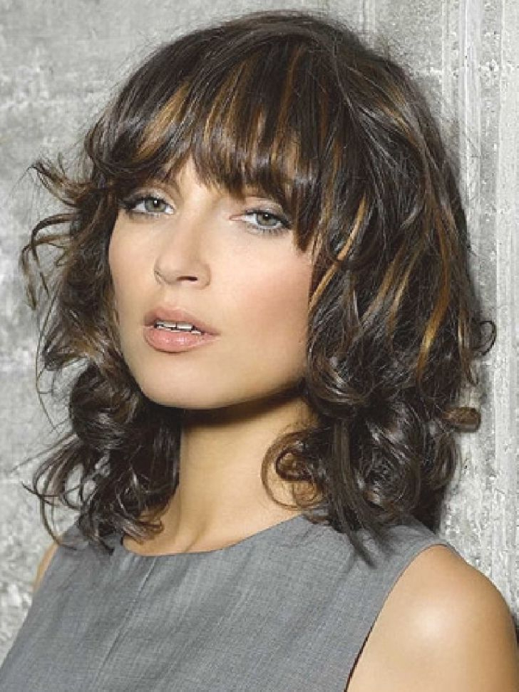 Fashion And Lifestyle : Medium Long Haircuts Women. Urban with regard to Feathered Haircuts With Angled Bangs