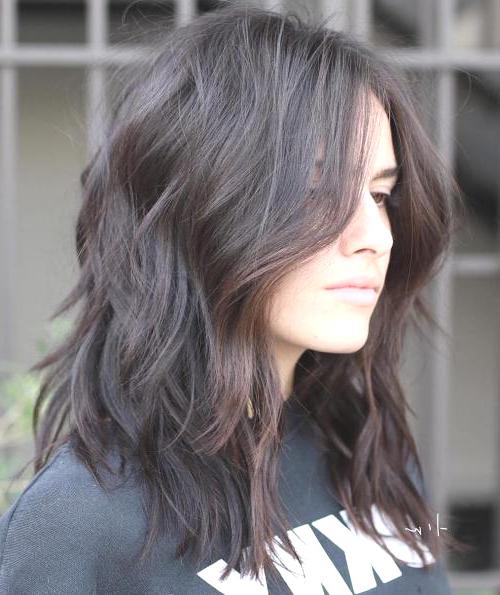 Fashion : Medium Length Choppy Haircuts Agreeable Choppy regarding Shoulder Length Choppy Hairstyles