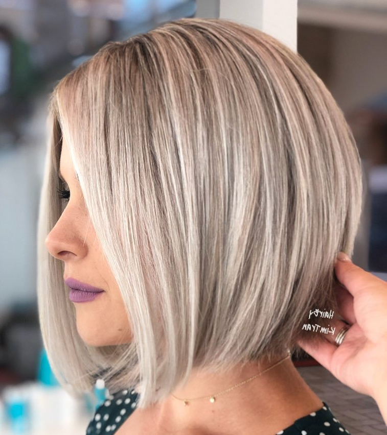 Find Your Best Bob Haircut For 2019 with Steeply Angled Razored Asymmetrical Bob Hairstyles