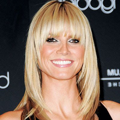 Full Fringe, Wispy Face Framing Angle, Shoulder Length -I with Feathered Haircuts With Angled Bangs
