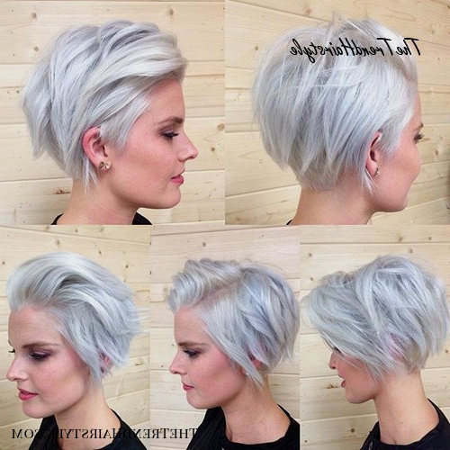Going Gray - 60 Short Choppy Hairstyles For Any Taste pertaining to Short Chopped Bob Hairstyles With Straight Bangs