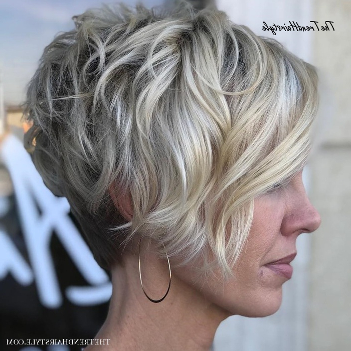 Layered Long Pixie Cut – 60 Gorgeous Long Pixie Hairstyles In Gray Pixie Haircuts With Messy Crown (View 14 of 25)