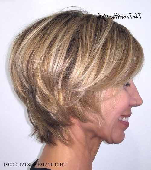 Lovely Layers – 50 Trendiest Short Blonde Hairstyles And With Long Pixie Haircuts With Sharp Layers And Highlights (View 15 of 25)