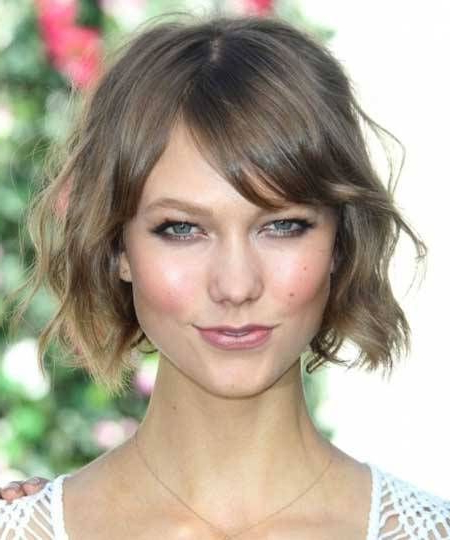 Pin On Bangs! (And Other Hairstyles) intended for Curly Messy Bob Hairstyles With Side Bangs