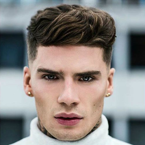 Pin On Best Hairstyles For Men Pertaining To Brushed Back Hairstyles For Round Face Types (View 9 of 24)